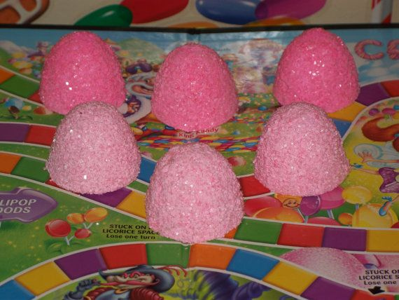 6 Fake Pinkalicious Inspired Gumdrops for Candyland Theme Birthday Party Favors, Decorations, Photo Props, Displays, Christmas Decor $16