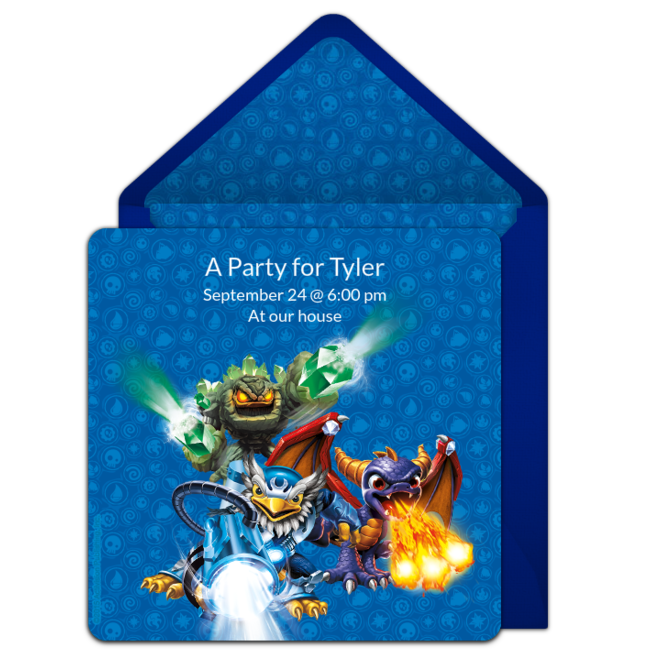 Customizable Free Skylanders Online Invitations Easy To Personalize And Send For A Birthday Party Punchbowl