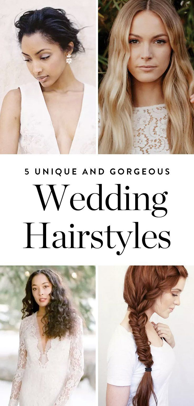 5 Wedding Hairstyles You Haven\'t Thought of Before | Unique wedding ...