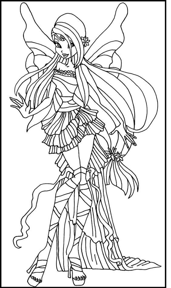 winx club harmonix musa coloring pages for kids printable winx club coloring pages for kids