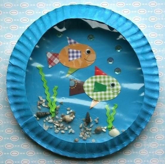 Paper Plate Aquarium Craft I did this a long time ago in my classroom. The kids loved it & Incredible DIY Paper Plate Crafts Ideas for Kids | Tahiti Crafts ...