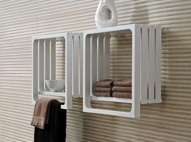 Nos idées déco pour la salle de bains Ikea hack storage, Pallets - porte serviette salle de bain design