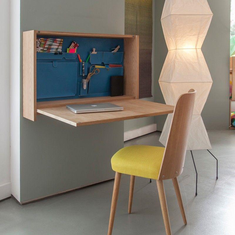 12 id es d co de bureau mural rabattable bureau mural sentou et murale. Black Bedroom Furniture Sets. Home Design Ideas