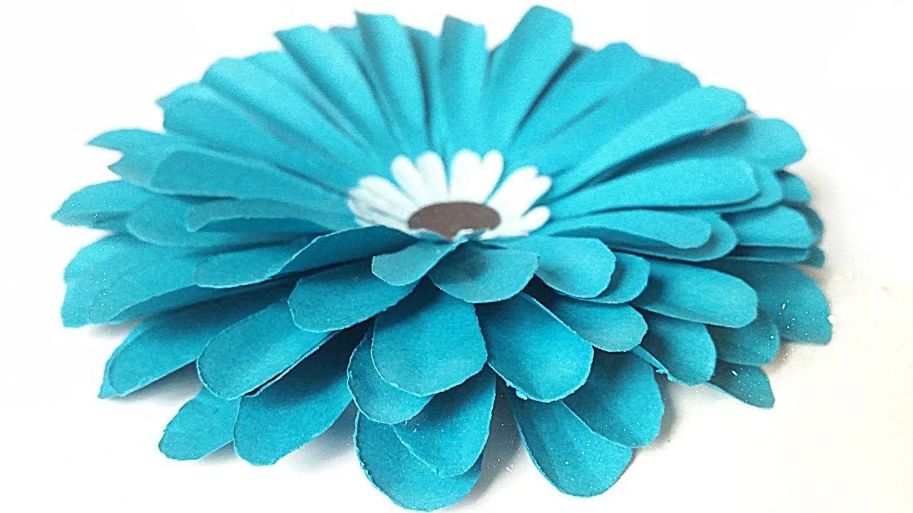 Blumen Aus Papier Basteln Leicht Falten Einfach Anleitung Mit
