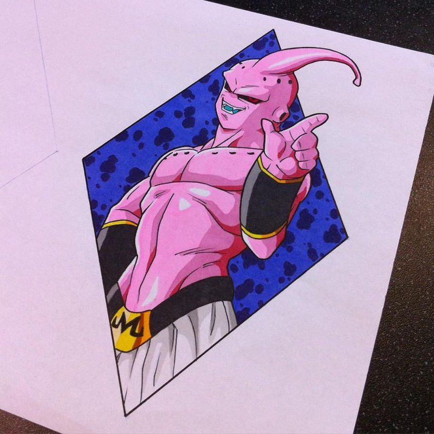 Super buu tattoo design by hamdoggz more awesome anime - Dessin de dragon ball ...