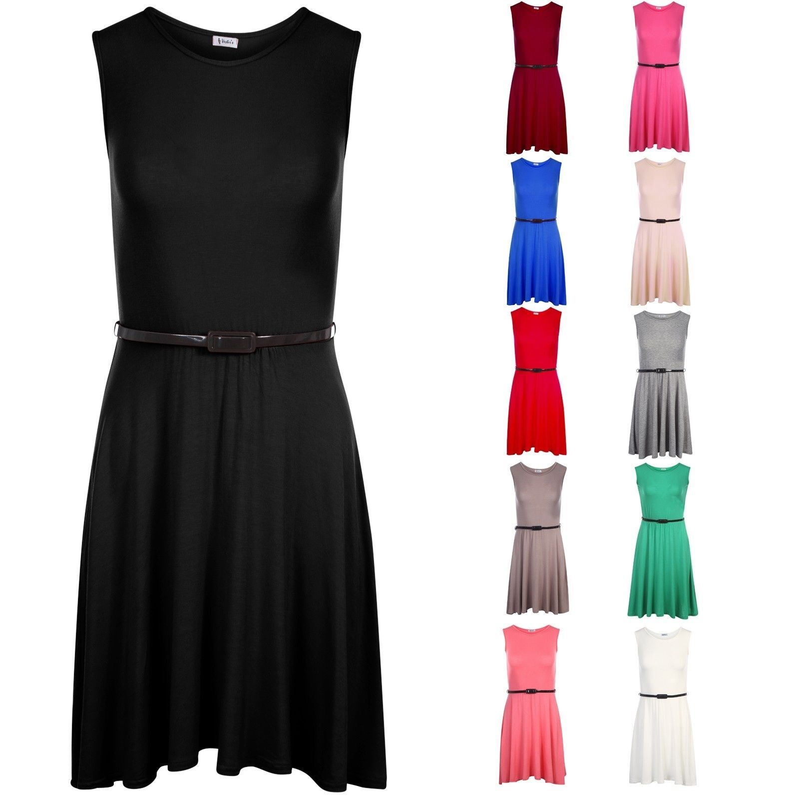 Girls skater dress kids party dresses belted new age to years