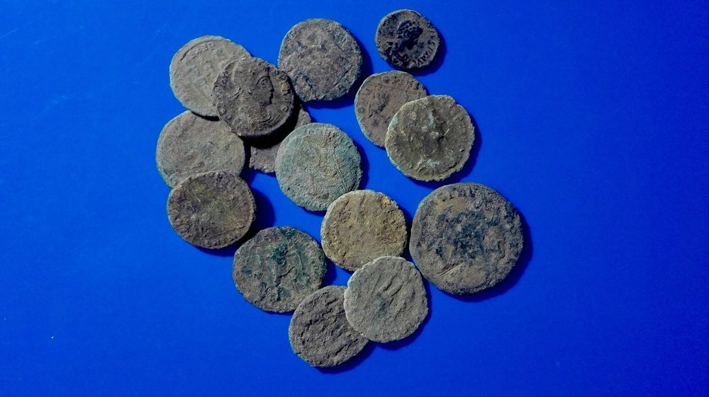 Ancient Uncleaned roman coins 15 psc-kom  | Novcici Coin