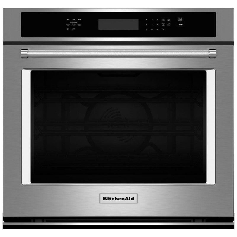 Kitchenaid kose500ess 30 in single electric wall oven