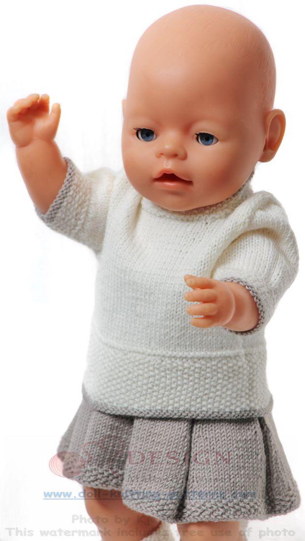 Modele tricot pour poupee | tricot | Pinterest | Ropa de muñeca ...