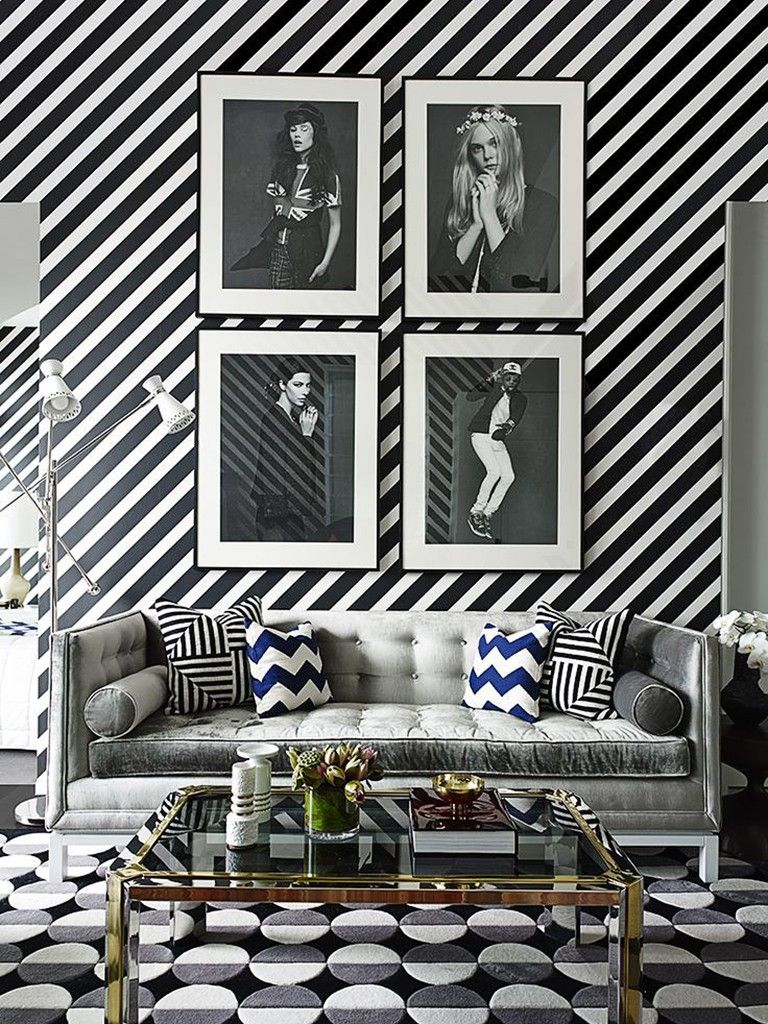 Geometric graphic wallpaper striped pattern photography interior design also best home decoration images in rh pinterest