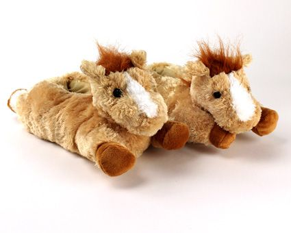Fuzzy Horse Slippers  Cozy and comfortable for your hooves. 8f5ec5bc0766