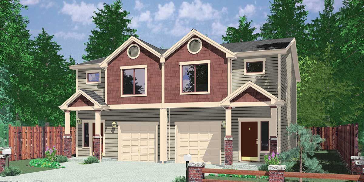Duplex House Plan D 532 Duplex Plans With Garage