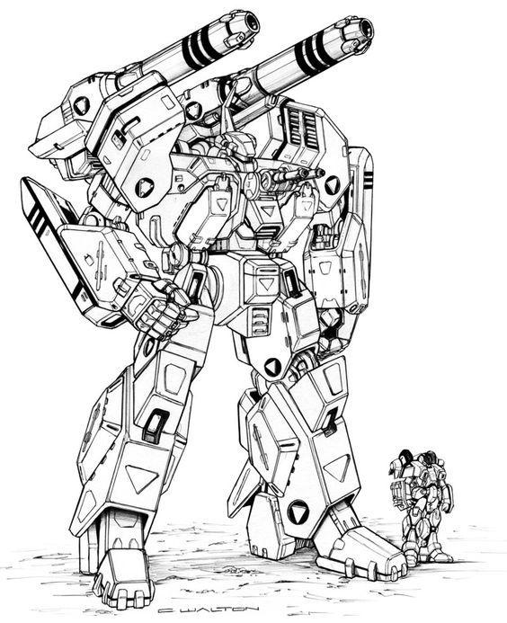 War Robots Mech Coloring Pages