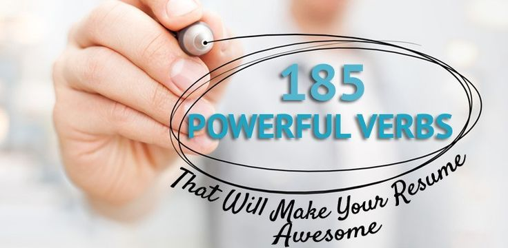 Career Guidance - 185 Powerful Verbs That Will Make Your Resume Awesome. Curated by Resume Foundry https://www.etsy.com/shop/ResumeFoundry