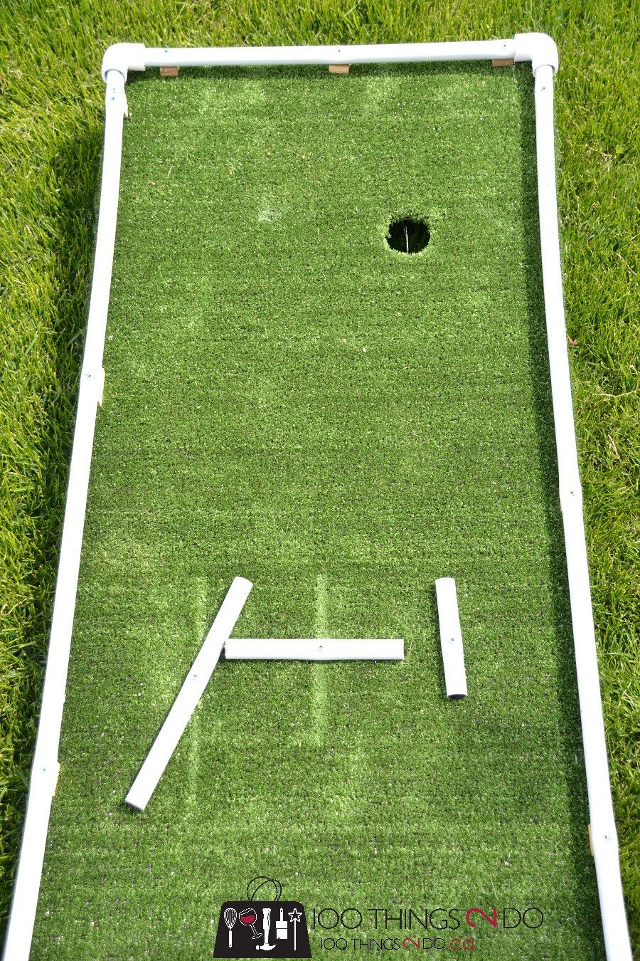 DIY Mini Golf as designed by 6 and 9 yearolds