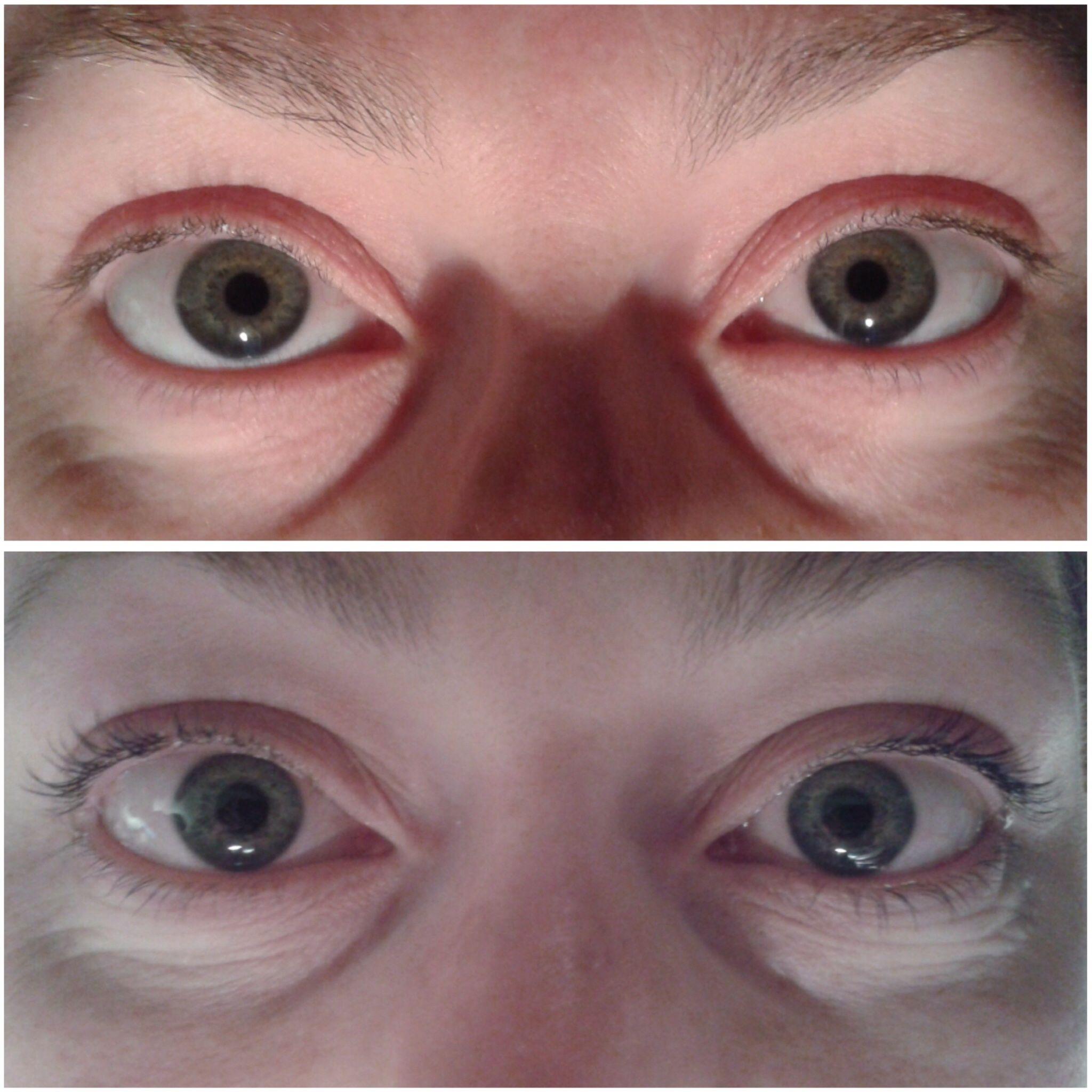 Before and After pics of an eyelash perm & tint. | Eyelash ...