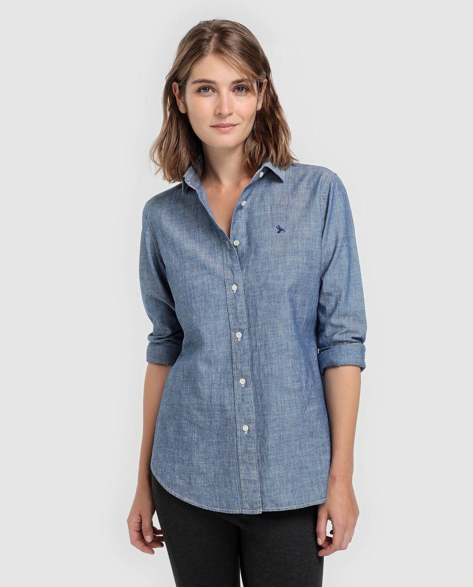 3d4c7c8e1 Camisa de mulher Lloyd's de manga comprida e punhos abotoados · Moda e  Acessórios · El