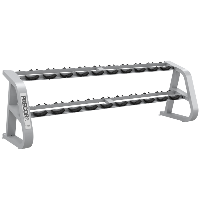 precor icarian two tier dumbbell rack