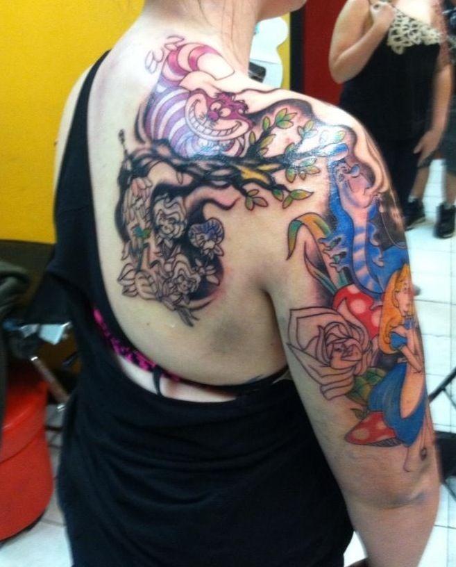 bc649161a My alice in wonderland half sleeve | Disney tats | Disney tattoos ...
