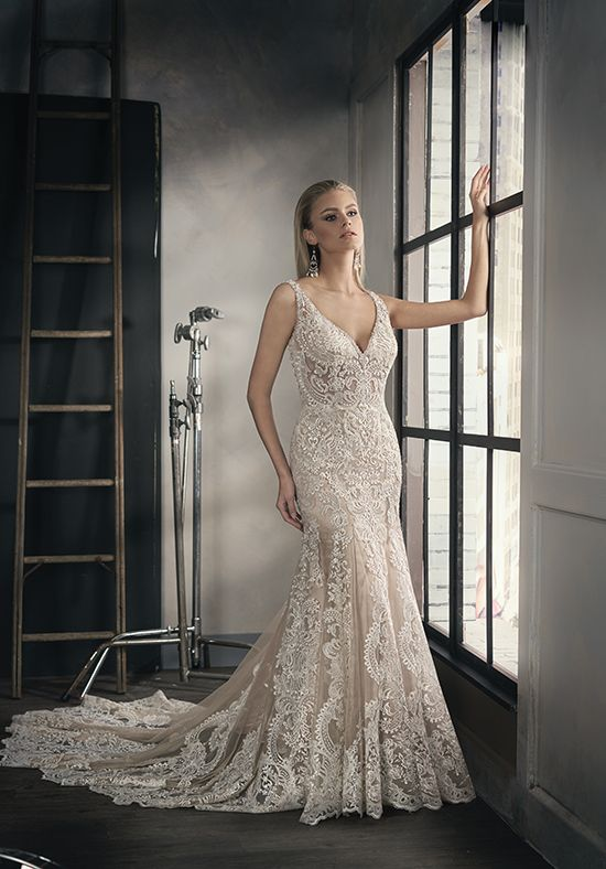 Ivory Embroidery Lace Bridal Gown | Jasmine Couture t192053 | http://trib.al/x4Z2EUM
