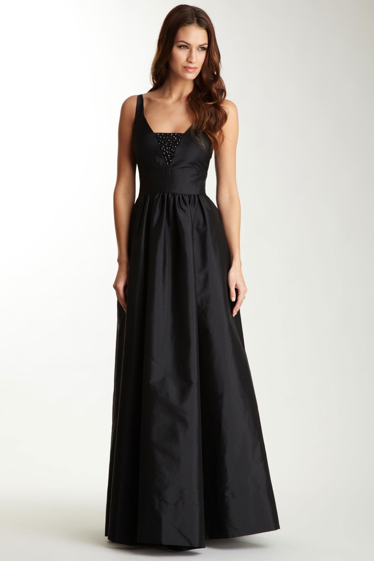 Eliza j long taffeta dress my style pinterest taffeta dress