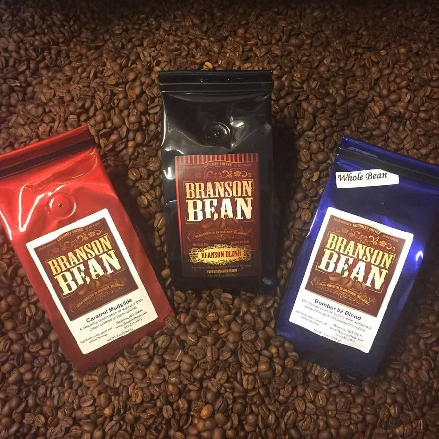 Coffee bag packaging by Branson Bean Chocolate covered