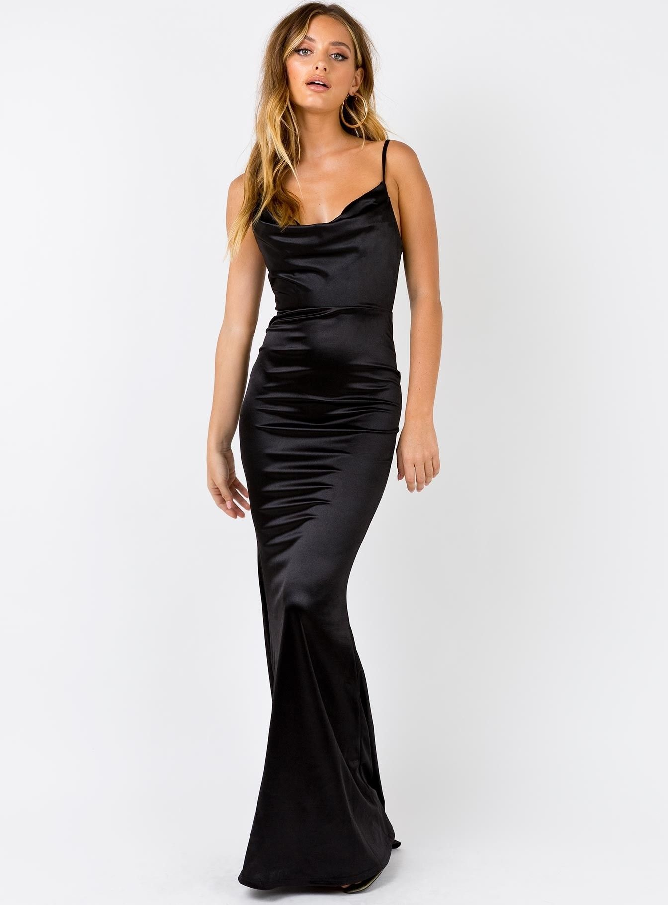 Anya Maxi Dress Black   Princess Polly   Maxi dress, Black maxi ...