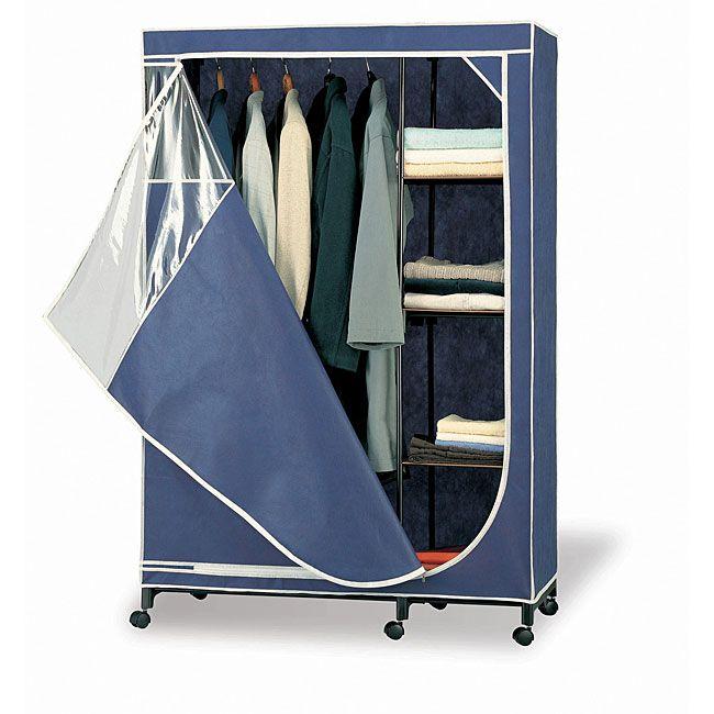 Organize It All Deluxe Wardrobe Storage Armoire (Blue Storage Armoire)  (Canvas)