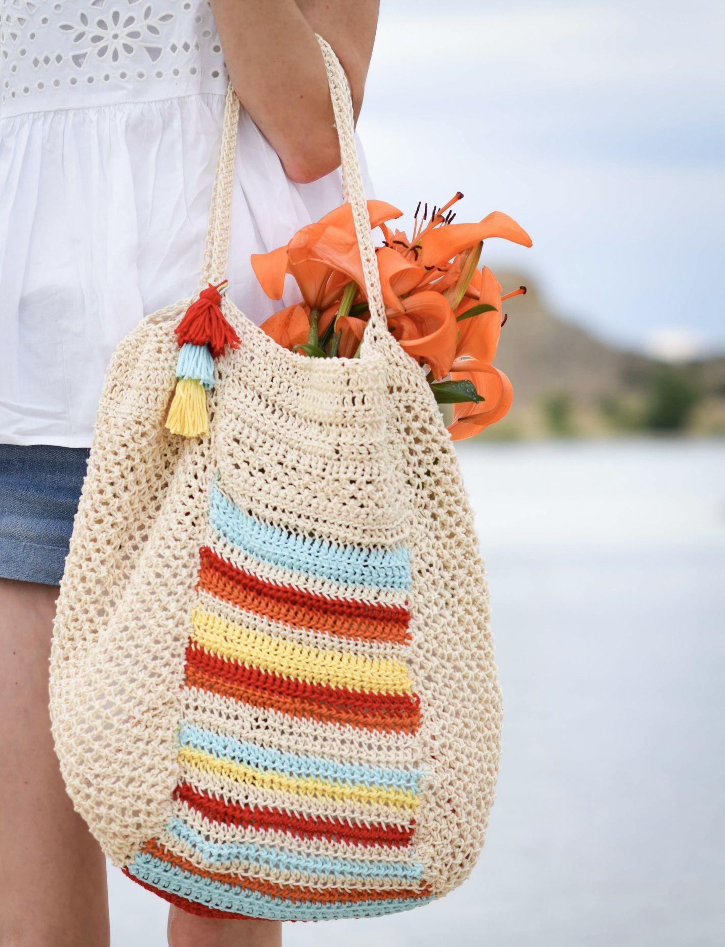 Caribe Big Crocheted Bag Pattern Crochet Pinterest Crochet