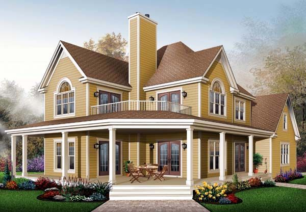 Country Style House Plan 64827 With 3 Bed 3 Bath 2 Car Garage Country House Plans House Plans Farmhouse Drummond House Plans