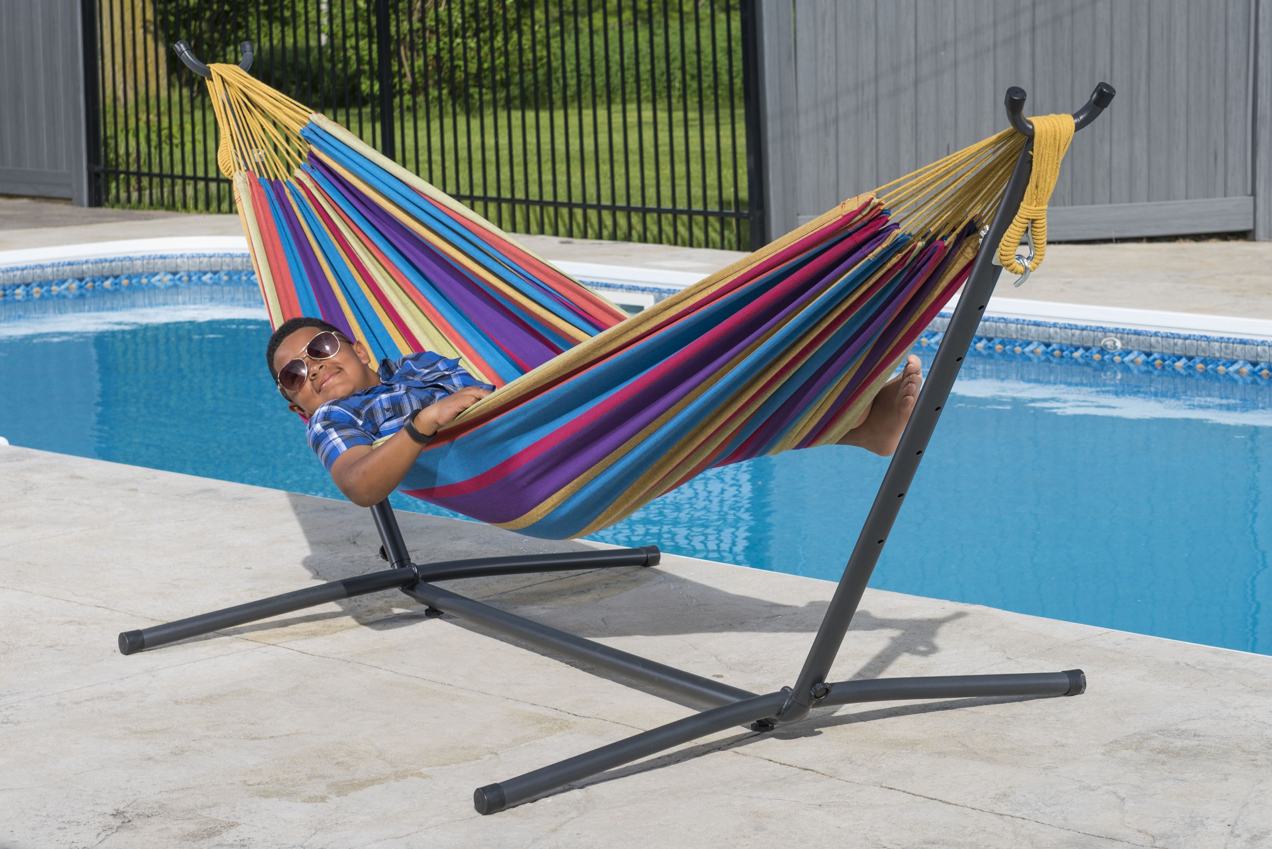 Hammock Chair Rona Vivere Double Tropical Hammock With Stand Combo Walmart