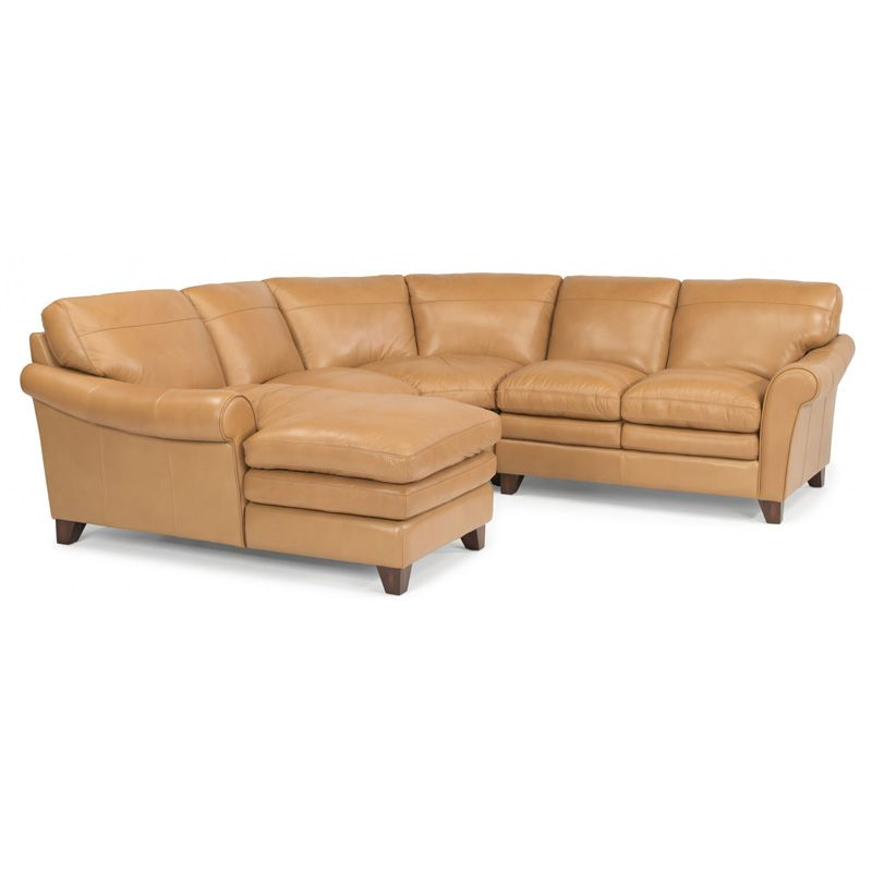 Flexsteel 1749 Sect Sofia Leather Sectional Discount Furniture At Hickory Park Furniture Galleries Furniture Leather Sectional Discount Furniture Stores