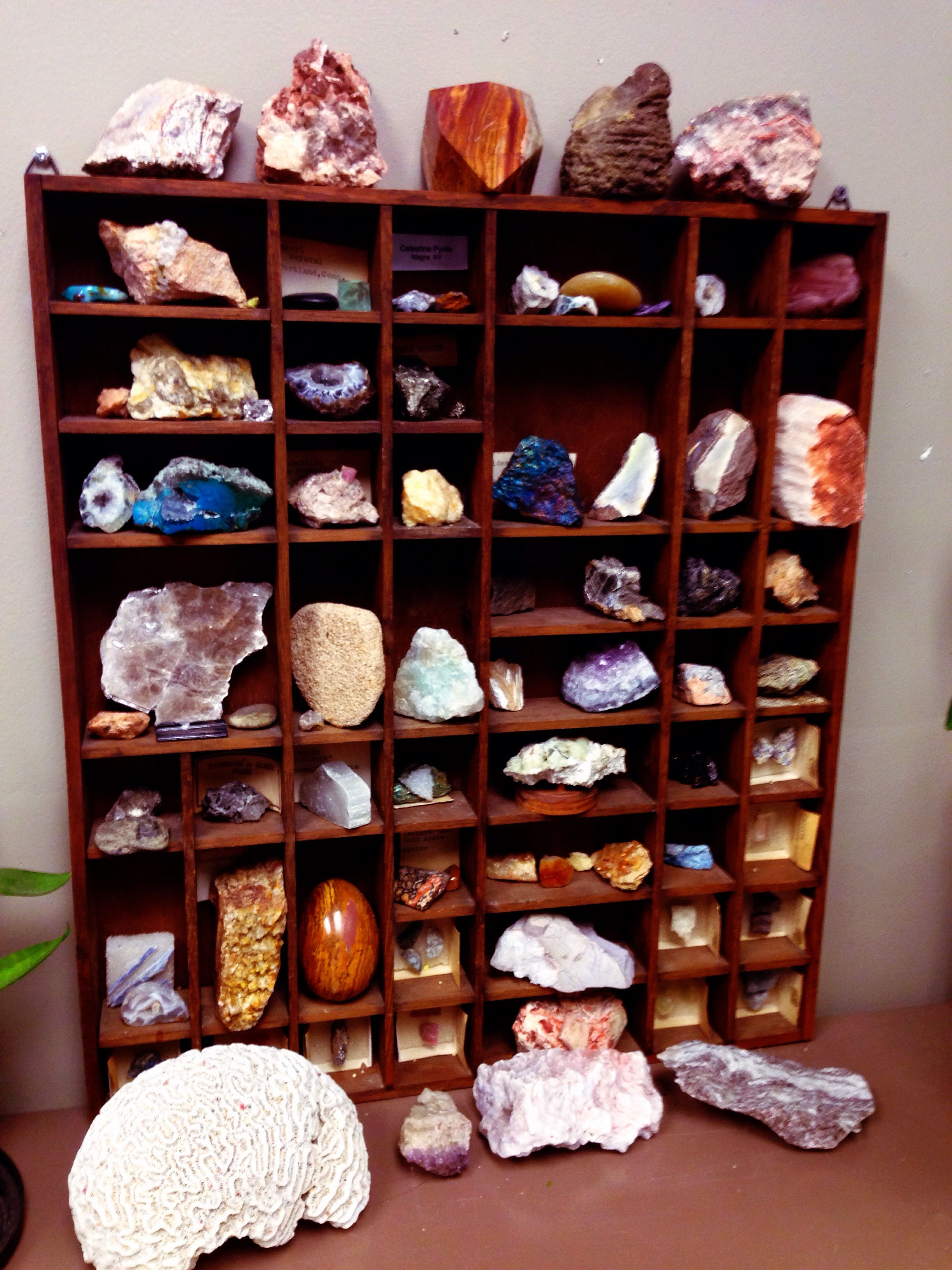 My rock collection at the lab :)