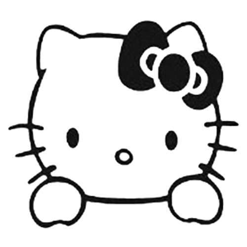 Hello Kitty Die Cut Vinyl Decal PV Vinilos Pinterest - Hello kitty custom vinyl decals for car