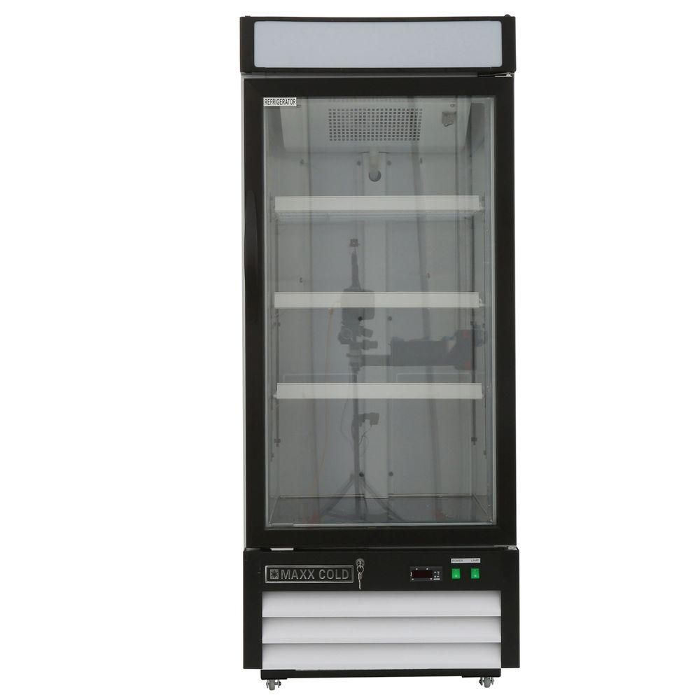 Maxx Cold X Series 12 Cu Ft Single Door Merchandiser Refrigerator In White Mxm1 12r Single Doors Interior Led Lights Home Depot