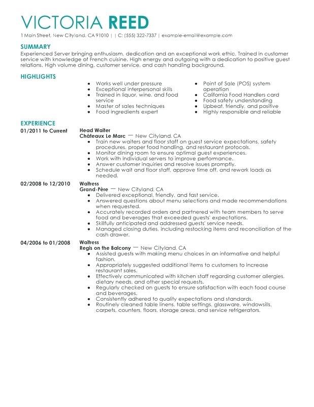 Sample Resume For Job Sales Resume Examples Job Resume Samples Server Resume