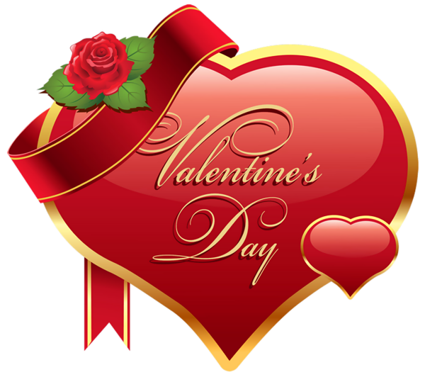 Valentines Day Heart With Rose Png Clipart Picture Valentines Day Clipart Valentines Day Hearts Valentines Day Greetings