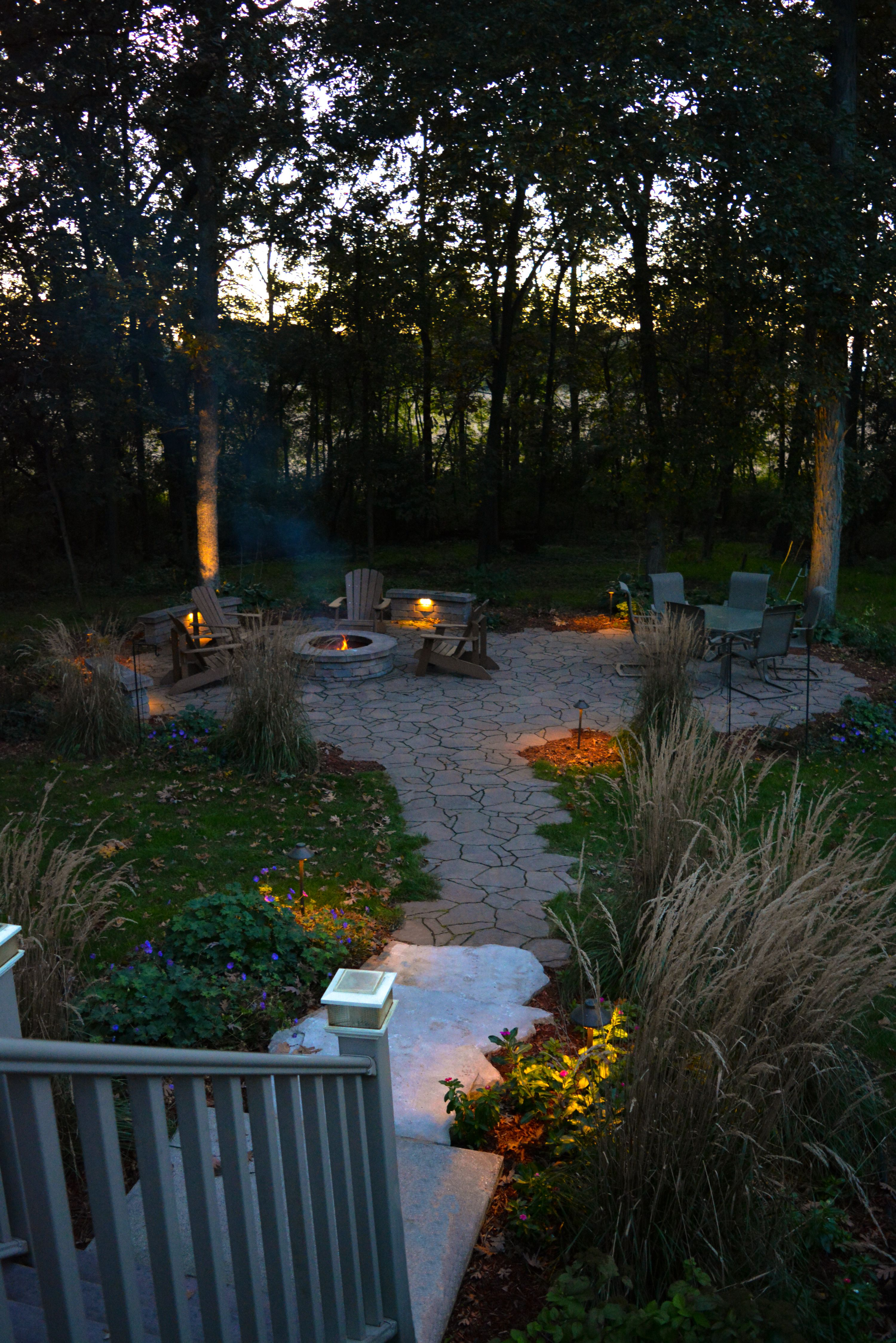 Beautiful Wisconsin fall evening  All landscaping and