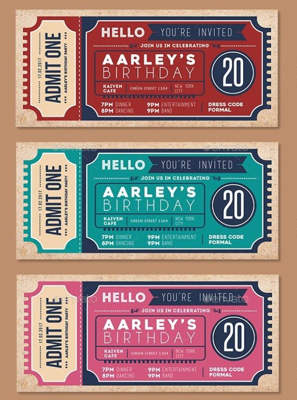Image Result For Movie Ticket Invitations Perforated  Invitations