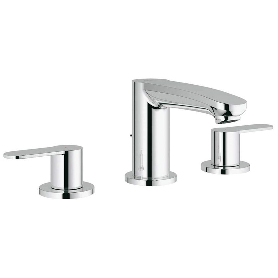 GROHE Eurosmart Cosmopolitan Starlight Chrome 2 Handle Widespread  WaterSense Bathroom Faucet (Drain Included)