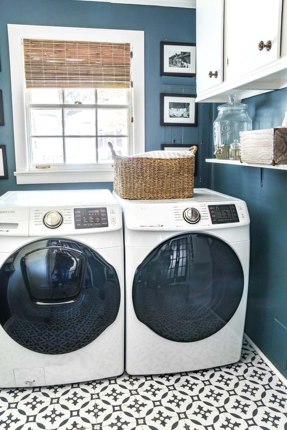 Blue White Laundry Room Blue Laundry Rooms Laundry Room Storage Shelves White Laundry Rooms