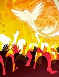 Ven Espíritu Santo     y desde el cielo     envía un rayo de tu luz.     Ven padre de los pobres,     ven dador de las gracias,  ...