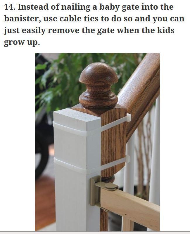 Veiligheidshekje Installeren Zonder De Trapleuning Te Schenden Baby Gates Diy Baby Stuff Banisters