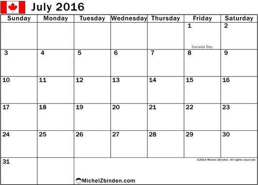 July 2016 Calendar Holidays 2016 Calendar Printable Free Printable Calendar Print Calendar Calendar Printables