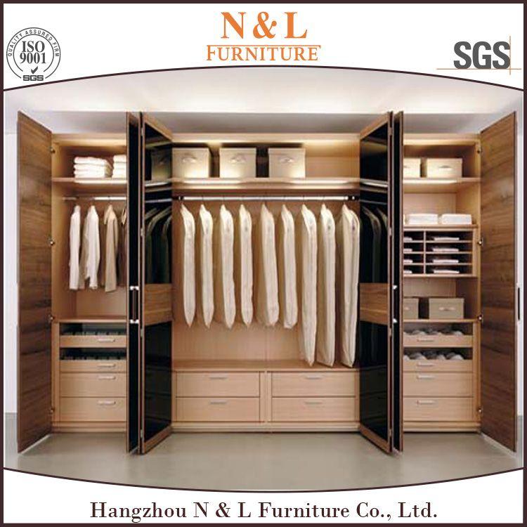 Wholesale Wooden Almirah Designs In Bedroom Wall China