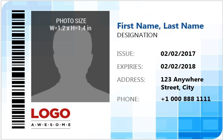 Employee Photo Id Badges Template 15 Free Docs Xlsx Pdf Id Card Template Badge Template Card Template