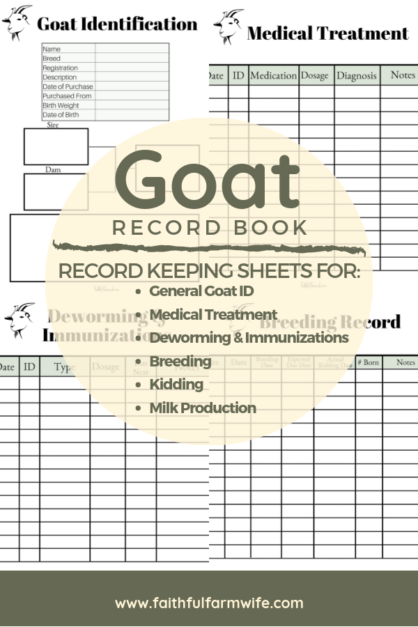 Keeping a Small Herd Goat Record Book Goats, Goat care