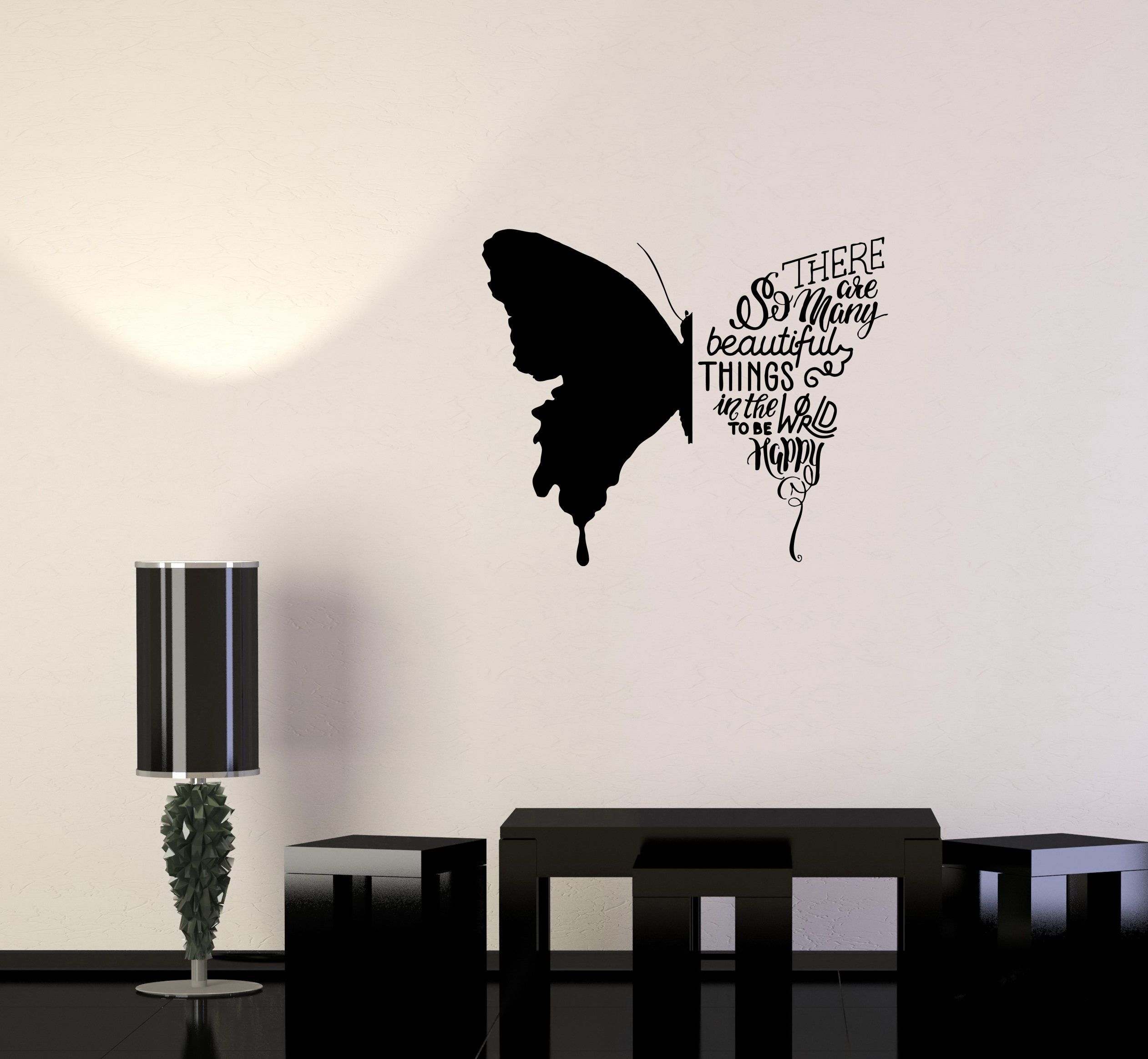 254ig Vinyl Wall Decal Loving Couple Abstract Tree Romantic Decoration Stickers