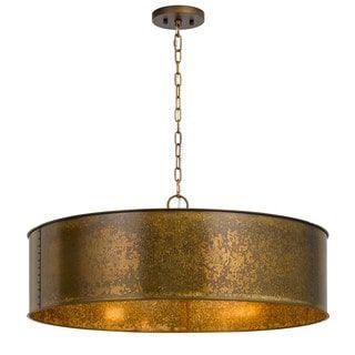 Rochefort Goldtone Metal 5 light Chandelier