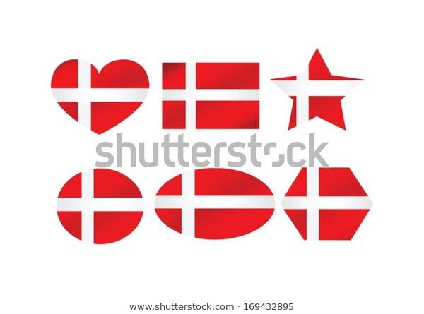 National Flag Denmark Themes Idea Stock Vector Royalty Free 169432895 National Flag Denmark Flag Theme
